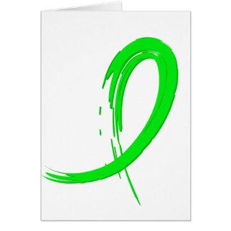 Non-Hodgkin's Lymphoma's Lime Green Ribbon A4 Greeting Cards
