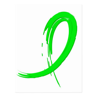 Non-Hodgkin's Lymphoma's Lime Green Ribbon A4 Postcard