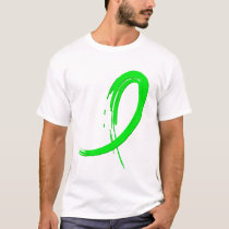Non-Hodgkin's Lymphoma's Lime Green Ribbon A4 T-Shirt