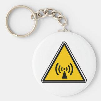 Non-Ionizing Radiation Sign Keychain