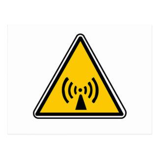 Non-Ionizing Radiation Sign Postcard