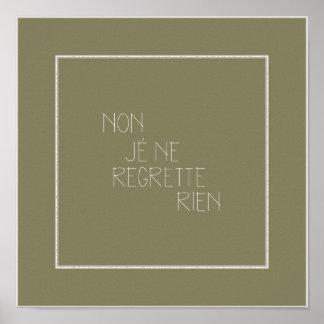 Non, Je Ne Regrette Rien-No Regrets - French Poster