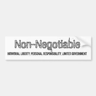 Non-Negotiable fundamentals of Liberty Car Bumper Sticker