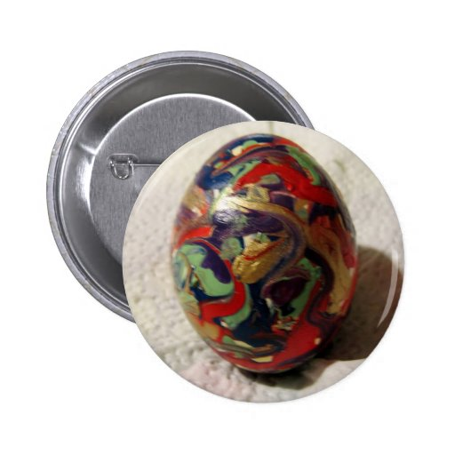Non Objective Egg Pinback Buttons