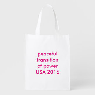 Non-Partisan Peaceful Transition of Power USA 2016 Market Totes