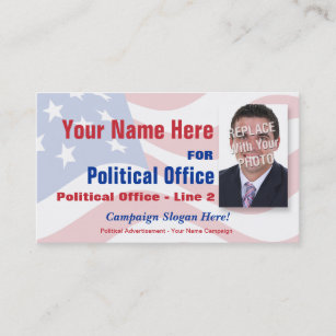 Campaign business cards templates zazzle non partisan political election campaign business card colourmoves