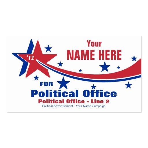 Non-Partisan Political Election Campaign Business Card Template