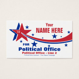Non-Partisan Political Election Campaign Business Card