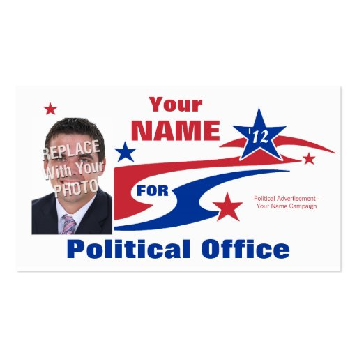 Non-Partisan Political Election Campaign Business Cards