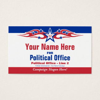 nonpartisan political election campaign business card
