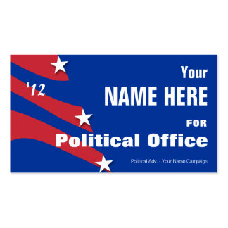 Non Partisan - Political Election Campaign Double-Sided Standard Business Cards (Pack Of 100)