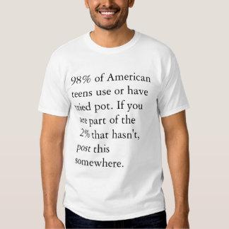 Non-pot people rock! tee shirt