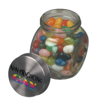 Non-Practicing Gay Glass Candy Jars