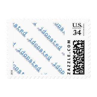 Non profit donation stamps