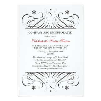 Non-Religious Holidays Corporate Party Card