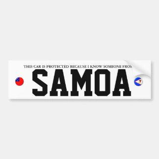 NON-SAMOAN CAR ALARM BUMPER STICKERS