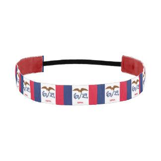 Non-Slip Headband with Flag of Iowa, USA