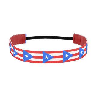 Non-Slip Headband with Flag of Puerto Rico, USA
