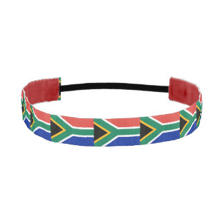 Non-Slip Headband with Flag of South Africa