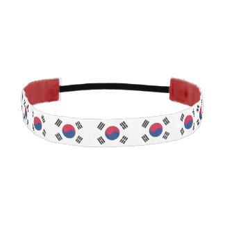 Non-Slip Headband with Flag of South Korea