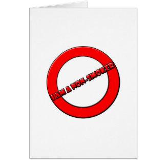 Non-smoker Greeting Cards