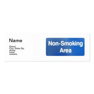 Non Smoking Area, Name, Street, City, State Zip... Mini Business Card