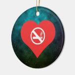 Non Smoking Areas Pictogram Ceramic Ornament
