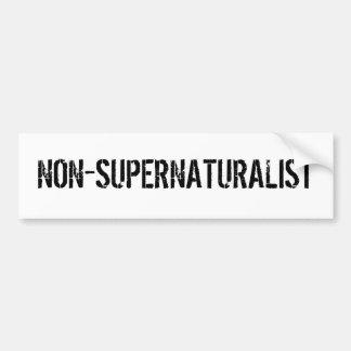 NON-SUPERNATURALIST ETIQUETA DE PARACHOQUE
