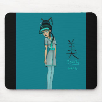 non traditional asian inspired geisha mousepads
