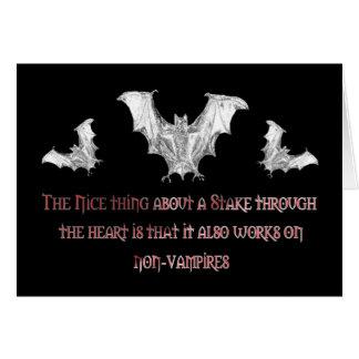Non-Vampires Greeting Card