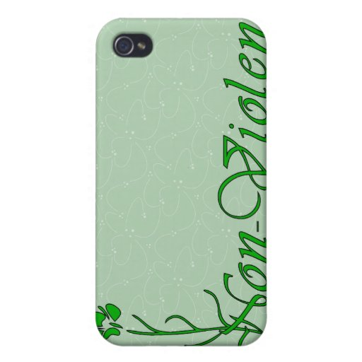 Non-Violence iPhone 4 Cases