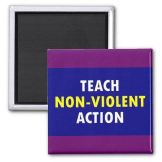 non violent action 2 inch square magnet