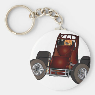 Non-wing sprint car #1 keychain