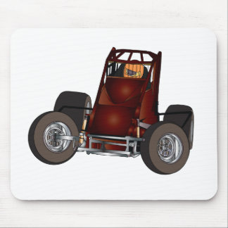 Non-wing sprint car #1 mouse pad