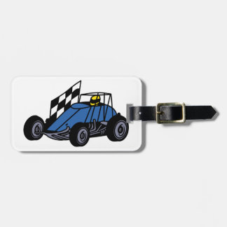 Non-Winged Sprint Car Luggage Tag