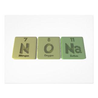 Nona  as Nitrogen Oxygen Sodium Flyer Design