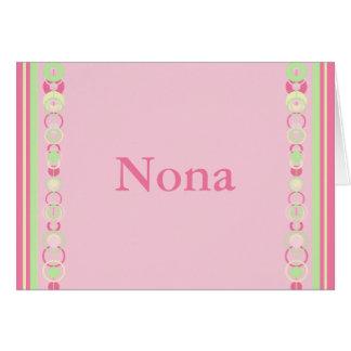 Nona Modern Circles Custom Name Card
