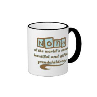 Nona of Gifted Grandchildren Coffee Mugs