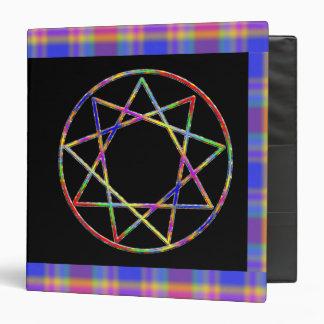 Nonagram Dark Rainbow Binder