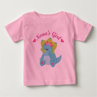 Nonas Girl Dinosaur Baby T-Shirt