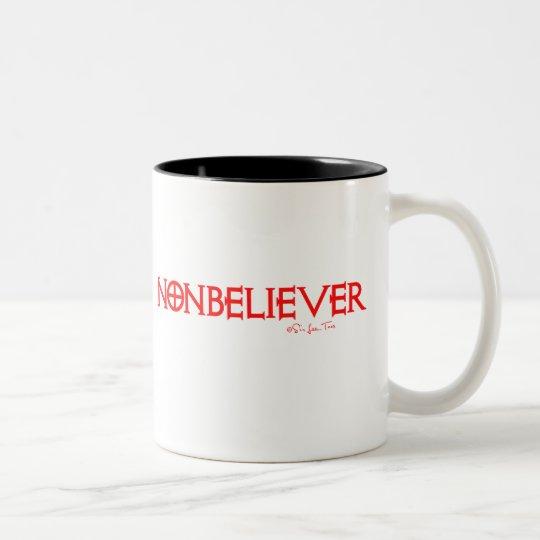 Nonbeliever 1 Two-Tone coffee mug