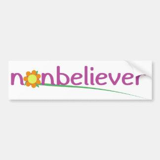 Nonbeliever Etiqueta De Parachoque