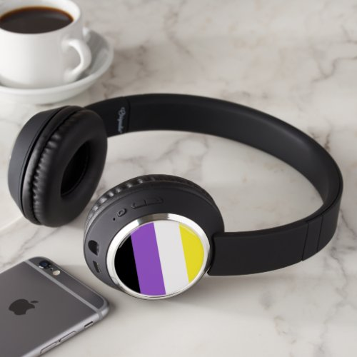 Nonbinary Pride Flag Headphones