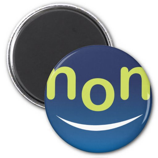 nonBored Smiley Face 2 Inch Round Magnet