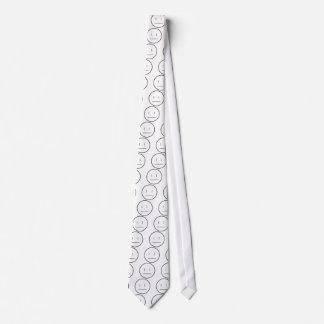 nonchalant face neck tie