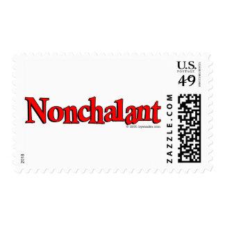 Nonchalant Postage Stamp