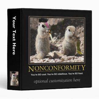 Nonconformity Demotivational Binder