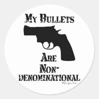 NonDenominational Bullets Classic Round Sticker