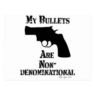 NonDenominational Bullets Postcard