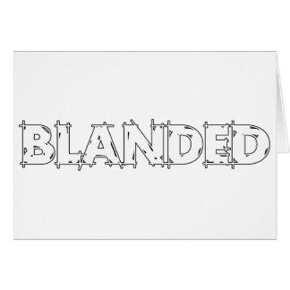 None Brand Blanded Slogan Card